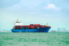 Container ship, Shipping cargo, Business logistics. Royalty Free Stock Photography