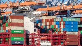 Container ship shipping terminal port Stock Photography