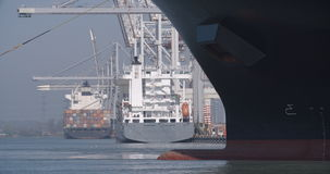 Container ship at Southampton Docks - 06 stock footage