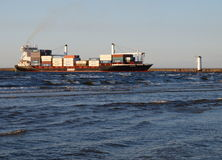 Container ship in Swinoujscie. Royalty Free Stock Photos