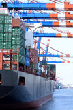 Container ship on terminal Royalty Free Stock Photos