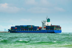 Container ship transport Cargo. Container ship transport cargo import & export shipping overseas Royalty Free Stock Image