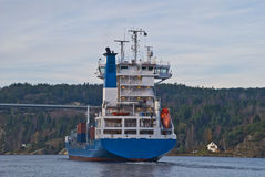 Container ship under svinesund bridge, image 15 Royalty Free Stock Photo