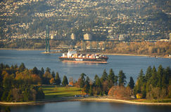Container ship at Vancouver, BC, Canada Stock Image