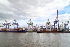 Container shipping Hamburg Royalty Free Stock Photo