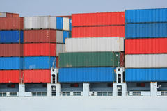 Container Shipping II. A picture of some cargo container on a ship Stock Photography