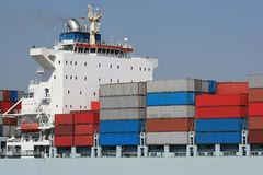 Container Shipping III. A picture of some cargo container on a ship Royalty Free Stock Photos