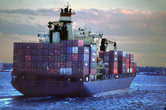Container Shipping New York USA Royalty Free Stock Images