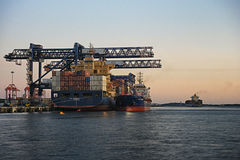 Container shipping at Port Botany, Australia Stock Photography