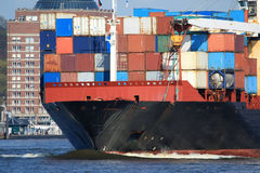 Container Shipping VIII. A picture of some cargo container on a ship Stock Photo