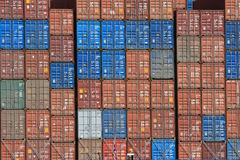 Container Shipping XII. A picture of some cargo container on a ship Royalty Free Stock Photography