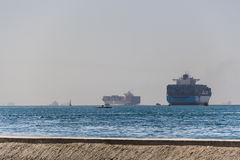 Container ships Stock Image