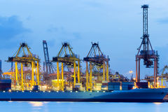 Container Shipyard at Port of Singapore Royalty Free Stock Photos
