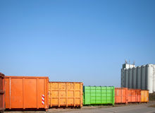 Container site Royalty Free Stock Photos