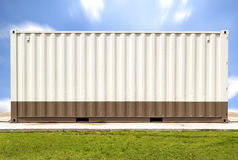 Container. With sky background Royalty Free Stock Image