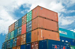 Container and sky. Stock Images