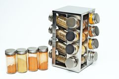 Container of spices. Kitchen spices   this  good   tasty  dish Royalty Free Stock Photography