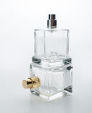 Container of spray bottle isolated over white background Stock Images