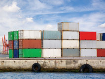Container stack Stock Images