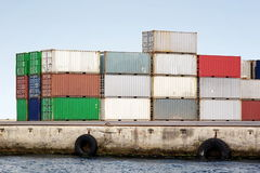 Container stack Royalty Free Stock Photography