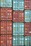 Container Stack. The port of Hamburg is the central hub for trade with Eastern and Northern Europe. As a container port, Hamburg takes second place in Europe and Royalty Free Stock Photography