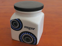 Container of sugar Stock Images