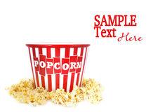 Container Surrounded by Pop Corn Stock Image