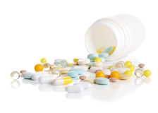 The container with tablets Royalty Free Stock Image