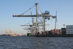 Container Terminal. Picture of a container terminal Stock Photos