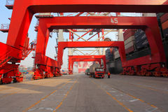 Container terminal royalty free stock images