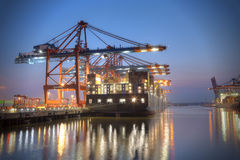 Free Container Terminal Royalty Free Stock Photo - 29482225
