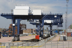 Container terminal Stock Photo