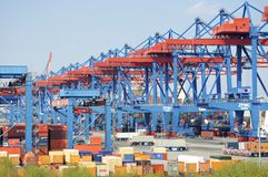 Container Terminal Altenwerder Stock Photography