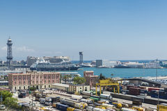 Container Terminal in Barcelona Royalty Free Stock Photos