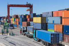 Container Terminal in Barcelona Stock Photo