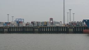 Container Terminal Bremerhaven royalty free stock image