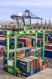 Container terminal, Casablanca sea port, Morocco Stock Photos