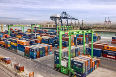 Container terminal in Casablanca sea port, Morocco Royalty Free Stock Images