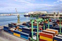 Container terminal in Casablanca sea port, Morocco Royalty Free Stock Photo