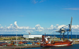 Container terminal in Copenhagen Royalty Free Stock Image