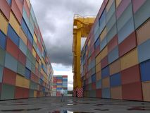 Container Terminal with crane Royalty Free Stock Photos
