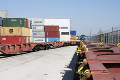 Container terminal  -RAW format Royalty Free Stock Photography