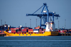 Container terminal Felixtowe, England Stock Photo