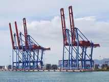 Container terminal with gantry cranes Stock Images