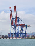 Container terminal with gantry cranes Royalty Free Stock Image
