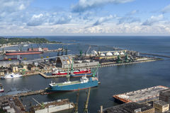 Container terminal in Gdynia, Poland Royalty Free Stock Photo
