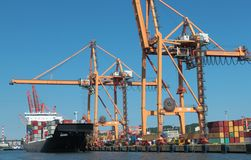 Container terminal in Gdynia Stock Image