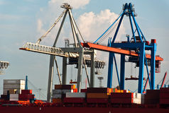 Container Terminal in Hamburg Royalty Free Stock Photo