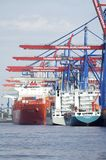 Container Terminal Hamburg Royalty Free Stock Photo