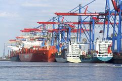 Container Terminal Hamburg Stock Images